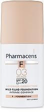Perfumería y cosmética Base de maquillaje delicado de larga duración SPF20 - Pharmaceris F Intense Coverage Mild Fluid Foundation SPF20