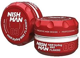 Perfumería y cosmética Cera moldeadora de cabello a base de agua, fijación firme - Nishman Hair Styling Wax 03 Flaming