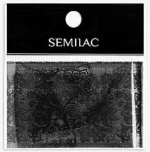 Perfumería y cosmética Lámina para decoración de uñas - Semilac 06 Transfer Nagelfolie Semilac Black Lace