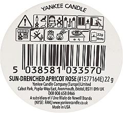 Tarta de cera perfumada, rosa de albaricoque bañada por el sol - Yankee Candle Sun-Drenched Apricot Rose — imagen N3