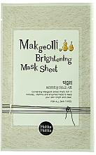 Perfumería y cosmética Mascarilla facial iluminadora de tejido con extracto de arroz y melocotón - Holika Holika Makgeolli Brightening Mask Sheet