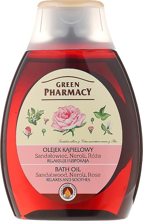 Aceite de baño a base de sándalo, neroli y rosa - Green Pharmacy
