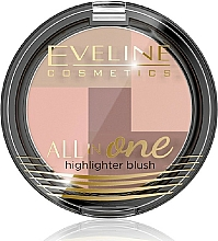 Perfumería y cosmética Colorete e iluminador - Eveline Cosmetics All In One Highlighter Blush