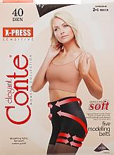 Perfumería y cosmética Pantis X-press, 40 Den, moca - Conte