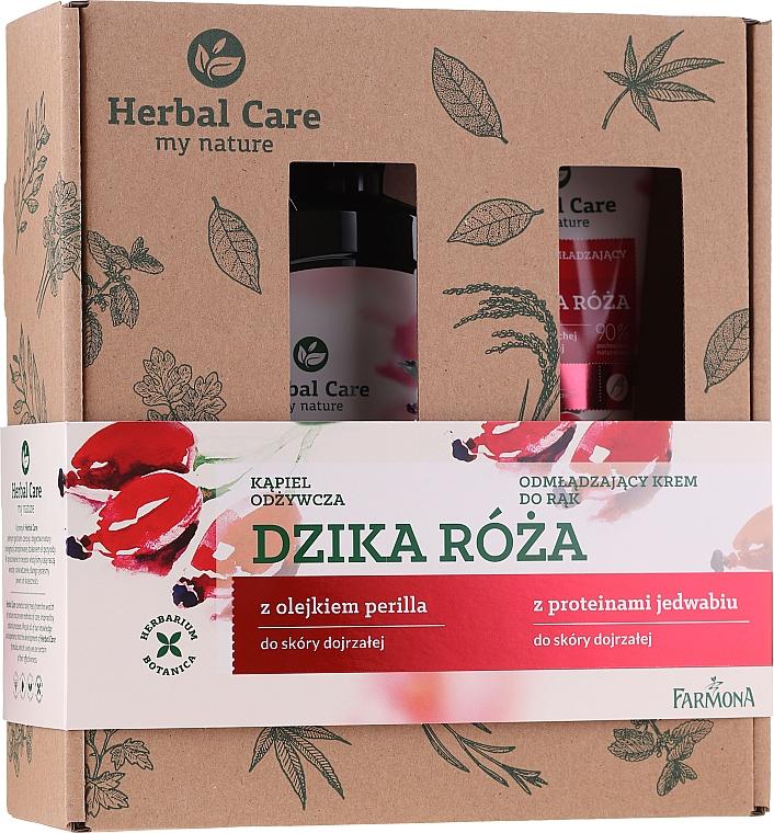 Set (gel de ducha/500ml + crema de manos/100ml) - Farmona Herbal Care