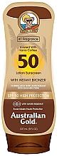 Perfumería y cosmética Protector solar bronceador - Australian Gold Bronzer Lotion SPF50