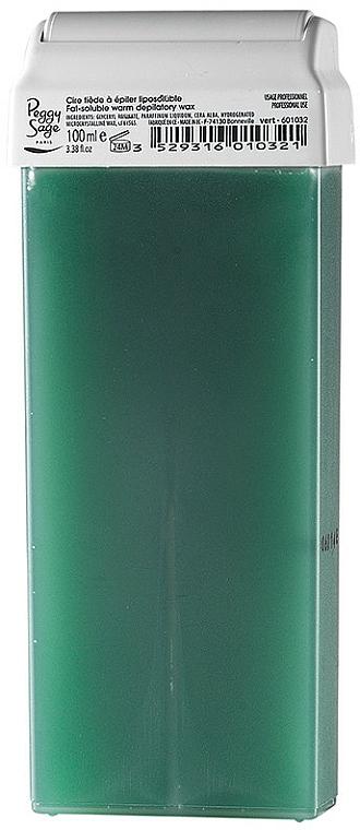 Cartucho de cera depilatoria liposoluble roll-on, verde - Peggy Sage Cartridge Of Fat-Soluble Warm Depilatory Wax Vert