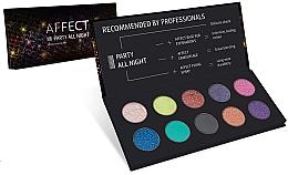 Perfumería y cosmética Paleta de sombras de ojos - Affect Cosmetics Party All Night Eyeshadow Palette