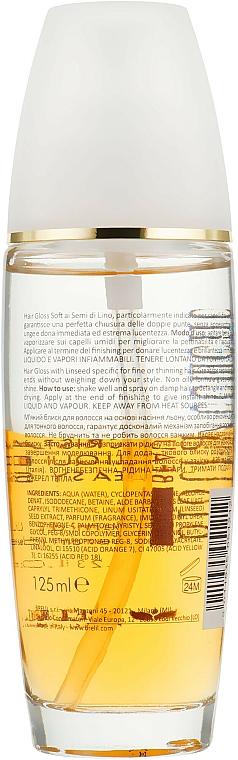 Cristales líquidos iluminadores bifásicos con aceite de lino y ceramidas - Brelil Bio Traitement Beauty Cristalli Liquidi Easy Shine — imagen N2