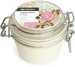 Perfumería y cosmética Exfoliante corporal con nuez de albaricoque en polvo y aceite de coco, aroma a lila - Bio Happy Coco & Lilac Body Scrab