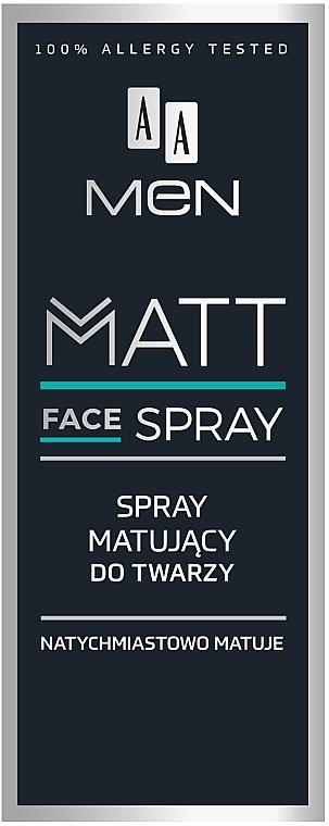 Spray facial matificante con D-pantenol y extracto de aloe - AA Men Matt Face Spray