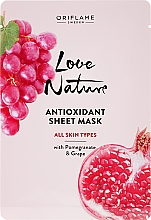 Perfumería y cosmética Mascarilla facial antioxidante con extracto de granada y uva - Oriflame Love Nature