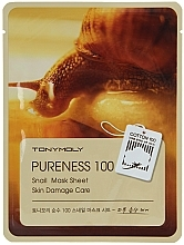 Perfumería y cosmética Mascarilla facial de tejido con extracto de baba de caracol - Tony Moly Pureness 100 Snail Mask Sheet