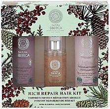 Perfumería y cosmética Set reparador para cabello - Natura Siberica Natural & Organic Rich Repair Hair Kit (champú/250ml + acondicionador/250ml + spray multifuncional/125ml)