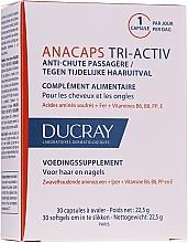 Perfumería y cosmética Complemento alimenticio para cuero cabelludo, cabello y uñas, 30 cápsulas - Ducray AnaCaps Tri-Activ Capsule