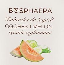 Perfumería y cosmética Bomba de baño efervescente en forma de cupcake, con aroma a pepino y melón - Bosphaera