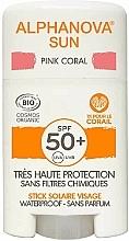Perfumería y cosmética Barra protección solar rosa - Alphanova Sun Pink Coral SPF50+