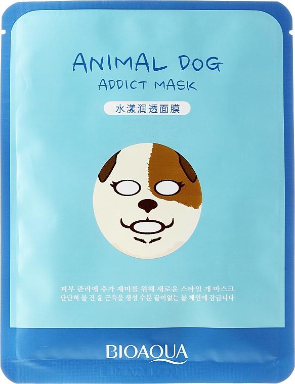 Mascarilla facial de tejido con proteína de seda y baba de caracol - Bioaqua Animal Dog Addict Mask