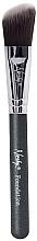 Perfumería y cosmética Brocha biselada para colorete, MC-F-02 - Nanshy Foundation Brush Onyx Black