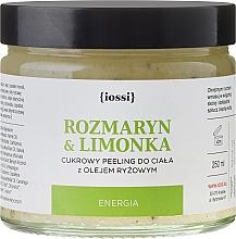 Perfumería y cosmética Exfoliante corporal de azúcar con romero y lima - Iossi Body Scrub