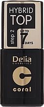 Perfumería y cosmética Top coat brillante - Delia Coral Hybrid Top Coat Gel