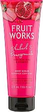 Perfumería y cosmética Exfoliante corporal, ruibarbo & granada - Grace Cole Fruit Works Body Scrub Rhubarb & Pomegranate