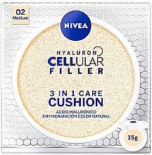 Perfumería y cosmética Cushion base de maquillaje - Nivea Hyaluron Cellular Filler 3in1 Care Cushion SPF 15