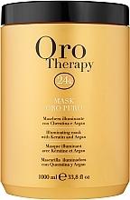 Perfumería y cosmética Mascarilla capilar iluminadora con aceite de argán - Fanola Oro Therapy Oro Puro Mask