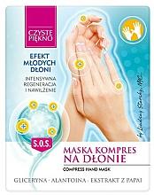 Perfumería y cosmética Mascarilla de manos revitalizante y nutritiva con glicerina, alantoína y extracto de papaya - Czyste Piękno