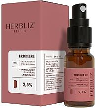 Perfumería y cosmética Spray bucal 100% natural vegano con aceite de semilla de fresa y 2,5% CDB - Herbliz CBD Oil Mouth Spray 2,5%