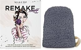 """Perfumería y cosmética Guante desmaquillante, gris """"ReMake"""" - MakeUp"""