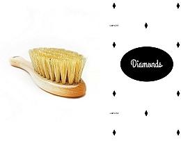 Perfumería y cosmética Set infantil - LullaLove Diamantes (cepillo de cerdas naturales + muselina de algodón 40x40 cm)