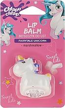 Perfumería y cosmética Bálsamo labial infantil con sabor a malvavisco, Unicornio blanco - Chlapu Chlap Lip Balm