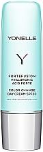 Perfumería y cosmética Crema de día con ácido hialurónico, SPF30 - Yonelle Fortefusion Hyaluronic Acid Forte Color Change Day Cream SPF30