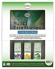 Perfumería y cosmética Galeo To Help You Sleep Gift Set - Set de bio aceites esenciales para sueño sano (lavanda/10ml, naranja/10ml, bergamota/10ml)