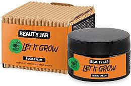 Perfumería y cosmética Crema para barba con aceite de coco, cera de abejas y proteína de trigo - Beauty Jar Let It Grow Beard Cream