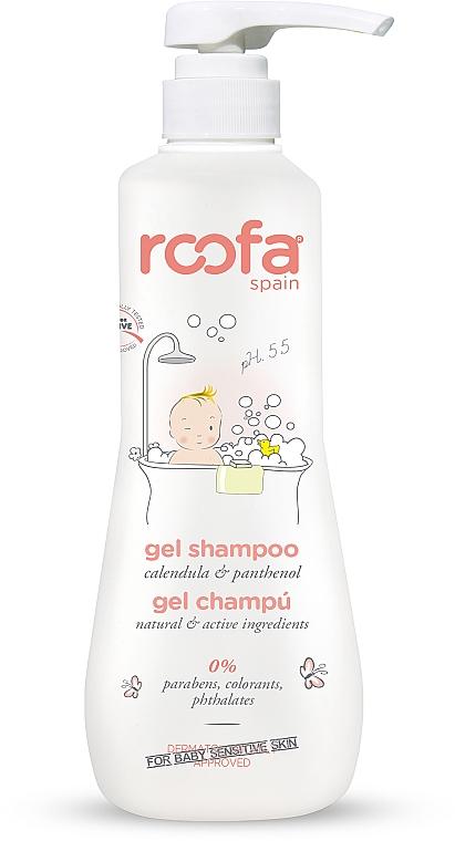 Gel-champú para bebés con extracto de caléndula y pantenol - Roofa Calendula & Panthenol Gel-Shampoo