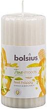 Perfumería y cosmética Vela aromática, mango y bergamota 120/58 mm - Bolsius True Moods Candle