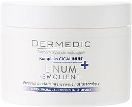 Perfumería y cosmética Crema corporal nutritiva con manteca de karité, aceite de cacao - Dermedic Linum Emolient