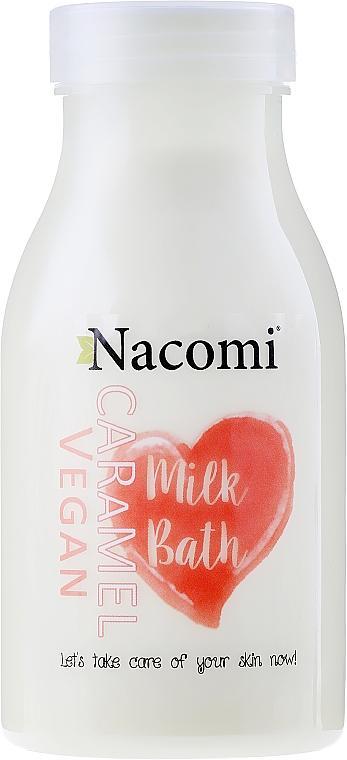 Leche de baño con proteínas de arroz y aceites naturales, aroma a caramelo - Nacomi Milk Bath Caramel