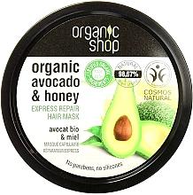 Perfumería y cosmética Mascarilla capilar natural con aceite de aguacate orgánico y miel - Organic Shop Organic Avocado and Honey Hair Mask