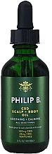 Perfumería y cosmética Aceite para cuero cabelludo y cuerpo con 100mg CBD y 25mg CBG - Philip B CBD Scalp + Body Oil
