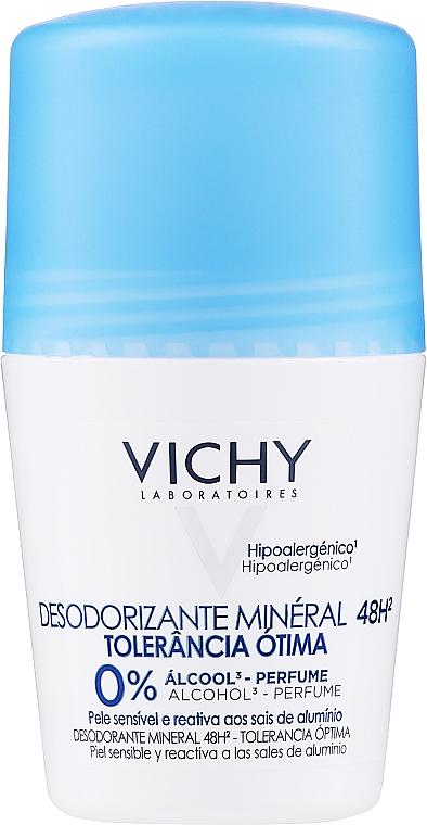 Roll-on desodorante con provitamina B5 calmante - Vichy Deodorant Mineral 48h Tolerance Optimale Roll-On