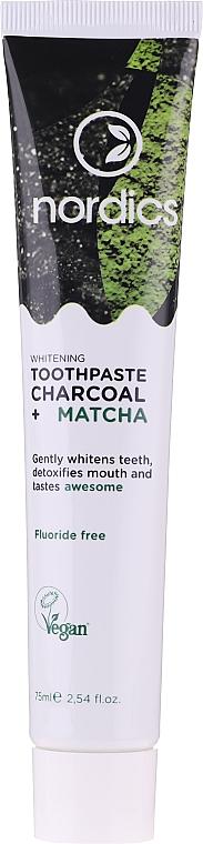 Pasta dental blanqueadora con carbón y matcha - Nordics Whitening Charcoal Matcha Tooshpaste