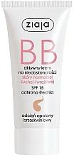 Perfumería y cosmética Crema BB para rostro con ácido hialurónico tono oscuro SPF 15 - Ziaja BB-Cream Opalony Brzoskwiniowy