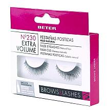 Perfumería y cosmética Pestañas postizas naturales con pegamento incluido - Beter No 230