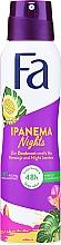 Perfumería y cosmética Desodorante antitranspirante spray con aroma a maracuya - Fa Ipanema Nights Deo Spray
