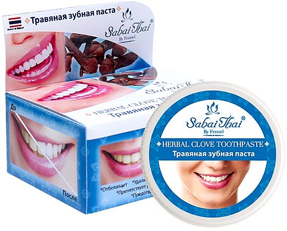 Pasta dental a base de hierbas y clavo - Sabai Thai Herbal Clove Toothpaste