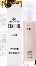 Perfumería y cosmética Crema de noche con aceites de jojoba y aguacate - SM Collection Crystal Amber Night Cream