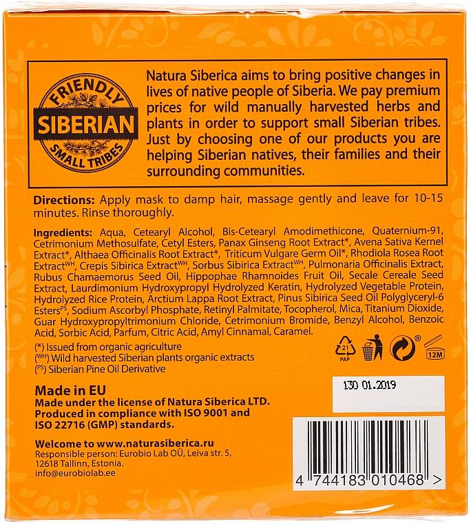 Mascarilla capilar con extracto de ginseng orgánico y aceite de pino siberiano - Natura Siberica Sauna & Spa — imagen N2